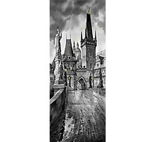 BW Prague Charles Bridge 02 Photographic Print