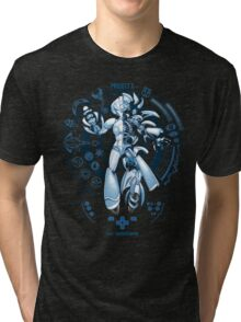 PROJECT X - Blue Print Edition Tri-blend T-Shirt