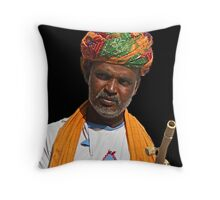 Jaipur Man, Rajasthan India Throw Pillow