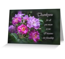for all you mean to me- Thankyou Greeting Card