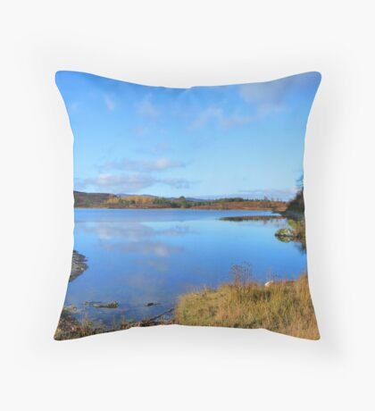 Loch Rotmell in Autumnal Weather Throw Pillow
