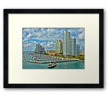 Colorful  Miami  Framed Print