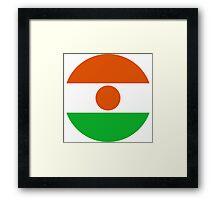 Roundel of Niger Air Force  Framed Print