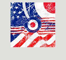 Grunge Mod Target Roundel America Unisex T-Shirt