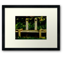 Unique Seat Framed Print