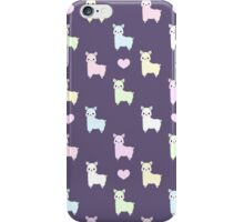 Pastel Pacas Galore (Dark BG Version) iPhone Case/Skin