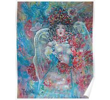 Singing Garden Angel Poster