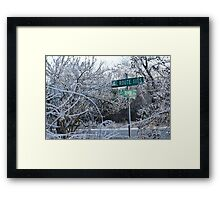 Highway to Seven Springs Framed Print