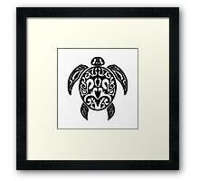 Sea Turtle Tribal Tattoo Framed Print