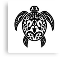Sea Turtle Tribal Tattoo Canvas Print