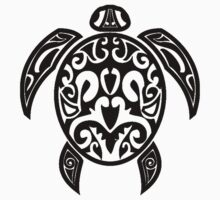 Sea Turtle Tribal Tattoo Kids Clothes