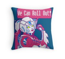 Arcee - We Can Roll OUT! Throw Pillow
