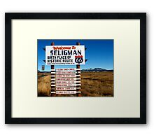 welcome to seligman Framed Print