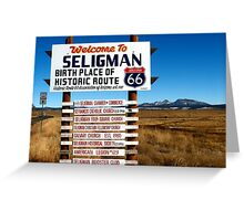 welcome to seligman Greeting Card