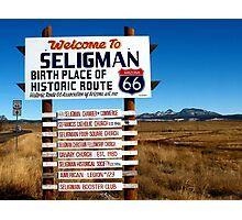 welcome to seligman Photographic Print