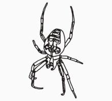 Spider - Lines - Black Kids Tee