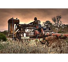 Old Fordson Pump Photographic Print