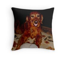 Wild Bill Hickock Kitten and Gal Pal Andromeda Throw Pillow