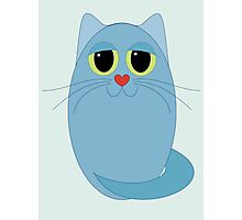 CAT BLUE ONE Photographic Print