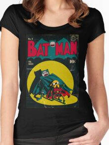 Batman and Robin/Adventure time Mashup Women's Fitted Scoop T-Shirt