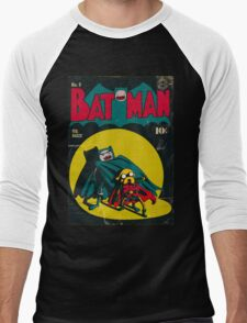 Batman and Robin/Adventure time Mashup Men's Baseball ¾ T-Shirt