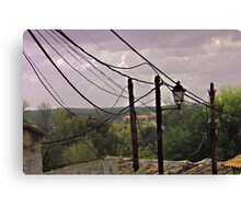 ELECTRICAL NIGHTMARE Canvas Print