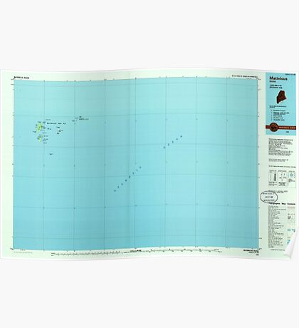 Maine USGS Historical Map Matinicus 808064 1985 100000 Poster
