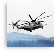 Marine Helicopter At Air Show Canvas Print