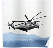 Marine Helicopter At Air Show Poster
