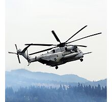 Marine Helicopter At Air Show Photographic Print