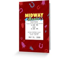 Midway Mania Fastpass Greeting Card