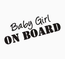Baby Girl on Board Maternity Wear (pregnant, pregnancy) by romysarah