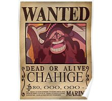 Wanted Chahige - One Piece Poster
