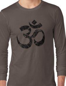OM Yoga Spiritual Symbol in Distressed Style Long Sleeve T-Shirt