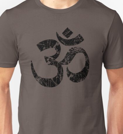 OM Yoga Spiritual Symbol in Distressed Style Unisex T-Shirt