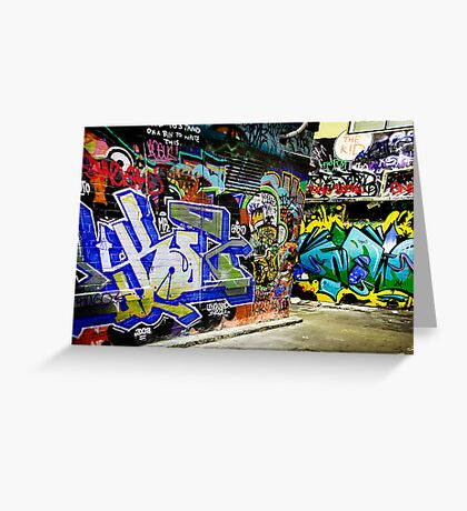 Melbourne Graffiti Artists Greeting Card