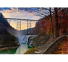 Letchworth - Return to Upper Falls Photographic Print