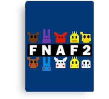 Five Nights At Freddy's 2 Pixel Shirt Canvas Print