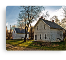 Pioneer Homes Canvas Print