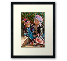 Thai Tribe Little girl Framed Print