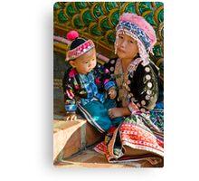 Thai Tribe Little girl Canvas Print