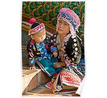Thai Tribe Little girl Poster