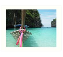 Thailand Longboat Art Print