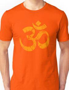 OM Yoga Spiritual Symbol in Distressed Style Unisex T-Shirt