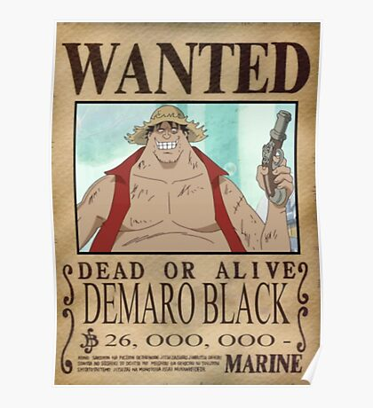 Wanted Luffy Fake - One Piece Poster