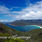 Wineglass Bay,  Season's Greetings by Steven Weeks