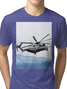 Marine Helicopter At Air Show Tri-blend T-Shirt