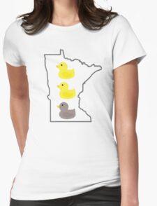 Duck Duck Gray Duck Womens Fitted T-Shirt