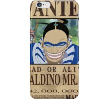 Wanted Mr3 - One Piece iPhone Case/Skin