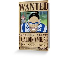 Wanted Mr3 - One Piece Greeting Card